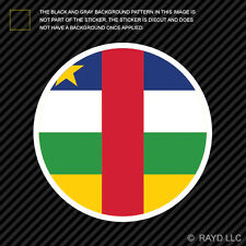 Round Central African Republic Flag Sticker Decal Self Adhesive Vinyl CAR CF CAF