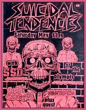 """3.25"""" vintage style 1980's SUICIDAL TENDENCIES PUNK ROCK sticker CHILI PEPPERS"""