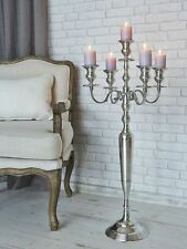 Tall 5 Arm Silver Candelabra Taper Candle Holders Wedding Centerpieces 100CM
