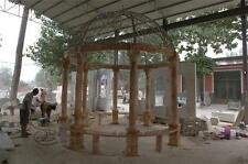 BEAUTIFUL 14' SUNSHINE MARBLE GAZEBO WITH A STAINLESS STEEL ROOF - ML048-1