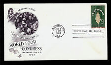 FIRST DAY COVER Food For Peace 5c 1231 Freedom From Hunger ARTCRAFT U/A FDC 1963