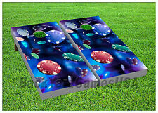 VINYL WRAPS Poker Chips Cornhole Boards DECALS Bag Toss Game Stickers 763