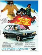 PUBLICITE ADVERTISING  1983   FORD  FIESTA  SURFII   tout schussez