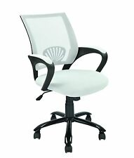 NEW Mid Back Mesh Ergonomic Computer Desk Office Chair White 695