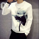New Mens Casual Slim Fit Round neck Pullover Jumper Blouse Fashion Sweater Tops