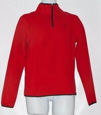 Aeropostale Prince & Fox Men's 1/4 Zip Mock Neck Fleece Sweatshirt Red XS NWT