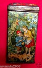 1880s Victorian era Red Riding Hood Fairytale candy tin great litho art!