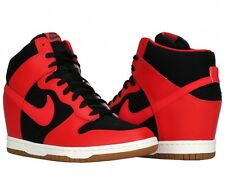 NIKE DUNK SKY HI HIGH ESSENTIAL BLACK-UNIVERSITY RED-SAIL 644877-015 Wmn Sz 9.5