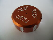 REAR BRAKE FLUID MASTER CYLINDER CAP FOR KTM 390 200 250 SCREW TOP LID ORANGE