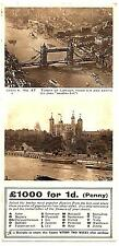 LONDON rppc ST PAUL'S HOSPITAL COMPETITION w/coupon TOWER OF LONDON series A 47