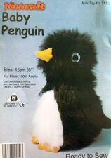 Baby Penguin Soft Toy Kit - Make Your Own - Fur Fabric - Gift Children Sew