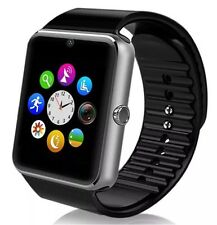 "BLACK 1.54"" gt08 touch screen Bluetooth Smart Watch Phone Mate Per iOS Android"