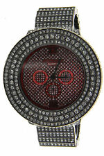 ICED OUT Bling Bling Big Heavy Case Techno King Men's Watch Black Finish