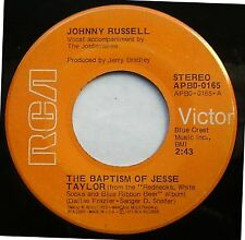 """JOHNNY RUSSELL The Baptism Of Jesse Taylor / Making Plans 7"""" 45 rpm RCA Records"""
