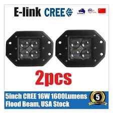 2x 4inch 4D OSRAM Flush Mount Cree LED Work Light Flood Offroad Jeep Truck SUV 3