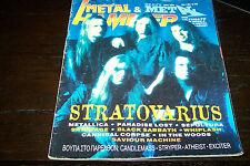 METAL HAMMER MAGAZINE 5/1996 STRATOVARIUS METALLICA SEPULTURA SAVATAGE