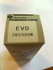 Lot of 2 New General Electric Bulb Model EVD 36V 400W Projector Lamp Bulb