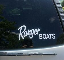 LARGE RANGER BOATS VINYL DIE CUT DECAL STICKER REPLACE FISHING DUCK HUNTING