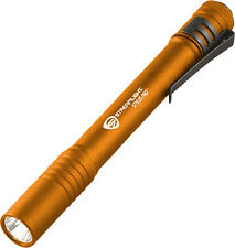 Streamlight STR66128 Stylus Pro Orange LED Flashlight 48 Lumen W/ Sheath 5 1/4""