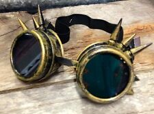 Steampunk goggles spikey gold burning man costume circus victorian goth