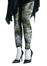 Zombie Adult Green Grey Leggings Costume Hosiery Stockings Sm/Med 2-8 Gothic