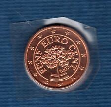 Autriche 2003 - 5 centimes d'Euro - FDC provenant du coffret 125000 exemplaires