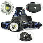 Rechargeable XM-L T6 LED 3000LM Zoomable 18650 HeadLamp 3-Modes HeadLight Torch