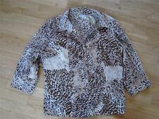 ~DRESSBARN L NOTHING MATCHES STRETCH BROWNS/IVORY TOP $3.50 SHIP ANIMAL PRINT~