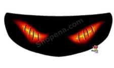 Fire Crossbone Helmet Visor Sticker Flame Motorcycle Shield Decal Tint Eyes +