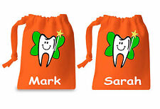 Personalised Children's Tooth Fairy Unisex Cotton Drawstring Boys & Girls Bags