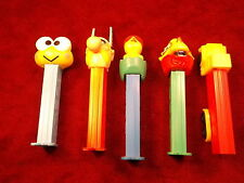 #11 of 17, LOT OF 5 PEZ CANDY DISPENSERS, VIKING?, DRAGON/DINOSAUR?, CHICK--EGG