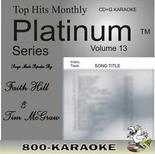 Top Hits Monthly Platinum THMPL13 Faith Hill Tim McGraw 19 Song Karaoke CD+G cdg