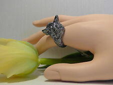 Alexis Bittar Elements Dark Phoenix Crystal Fox Head Ring. Size 8. *****NEW*****