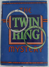 The Twin Ring Mystery MILDRED A WIRT Nancy Drew Author HBDJ Mystery Books Girls