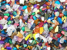 2000 Carat Lots of Size #1 Tumbled Polished Gemstones + A FREE Faceted Gemstone