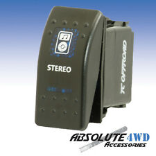 *Stereo* Rocker Switch Blue - ARB Carling LED 12v Landcruiser Patrol 4x4