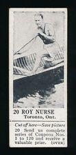 1924 V31 Dominion Chocolates ATHLETIC STARS #20 Roy Nurse (Rower)