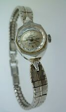 LADIES VINTAGE JULES JURGENSEN WATCH 14KT WHITE GOLD 17J SWISS MOVEMENT
