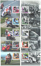 Isle of Man Motorcycle  Legends Scarce mnh smaller stamps & diff perfs-TT Races