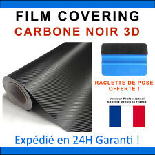 150 x 152cm Carbone 3D Noir Film Vinyle Sticker Covering THERMOFORMABLE DISCOUNT