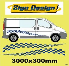 CHEQUERED RACING FLAG FIT VIVARO TRAFFIC GRAPHICS DECALS STICKER KIT 133