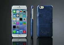 Fashion Oil-wax Leather Back Cover Case with Card Pocket for iPhone Samsung HTC