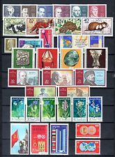 East-Germany/GDR/DDR: All stamps of 1970 in a year set complete, MNH
