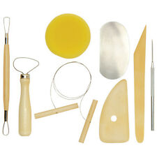 8 POTTERY CLAY & CERAMIC SCULPTING BOXWOOD RIBBON TOOLS & WIRE CUTTER 780/8 mb