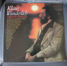 """Vinilo LP 12"""" 33 rpm KLAUS WUNDERLICH - TIME FOR ROMANCE - Long Playing Record"""