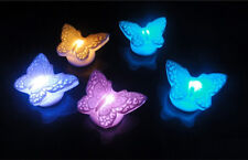 Exquisite New Butterfly LED Night Light Lamp Multi-Color Battery Adornment EWUK