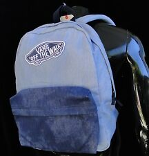 Vans Skate Co. Realm Denim Blue color Mens Unisex Backpack School Bag