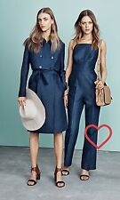 CR LOVE ❤️ NEW! SZ XS (8) COUNTRY ROAD HIGH WAISTED JUMPSUIT DENIM COLOUR