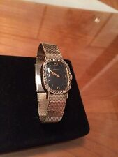 VINTAGE LADIES LONGINES WATCH DARK BLUE DIAL EXCELLENT CONDITION WINDUP