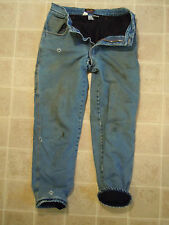 Used WALLS Zero-Zone PANTS Mens 32x32 Insulated Cold Weather Denim Jean Lining